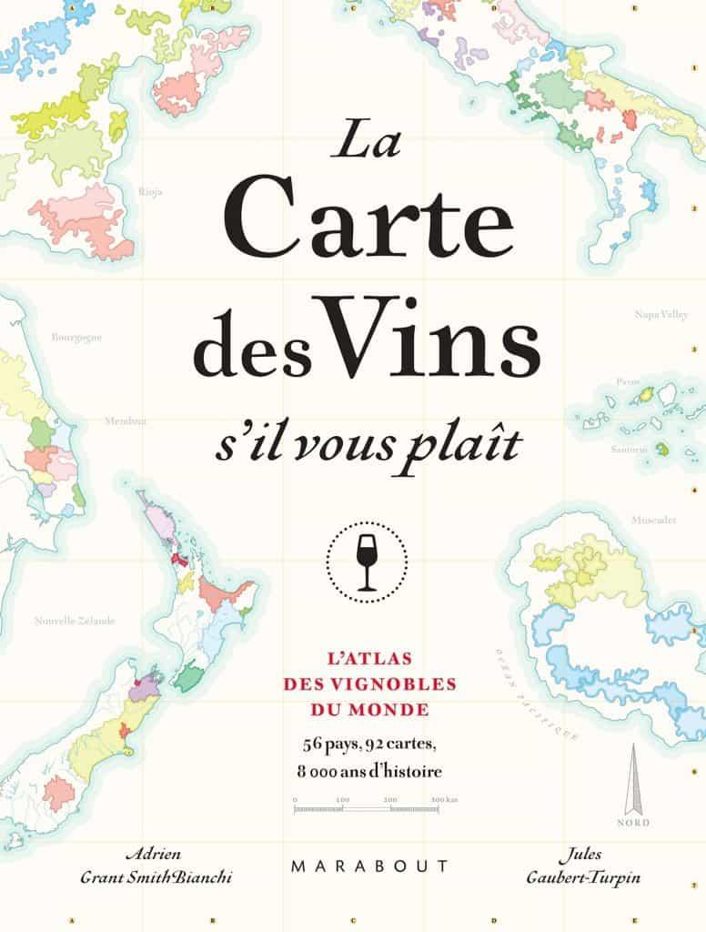 La carte des vins - livre concernant le vin