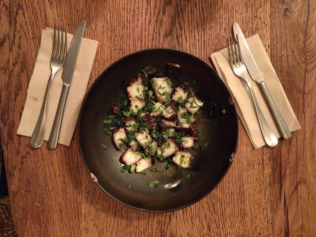 Salade poulpe - menus de coup d'oeil