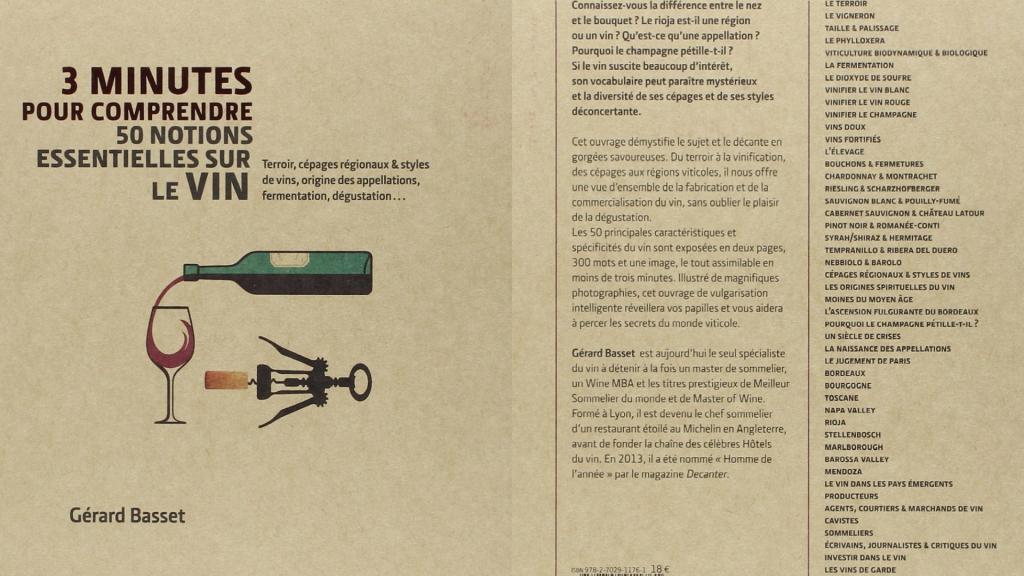 3 minutes pour comprendre 50 notions essentielles sur le vin - première couverture et quatrième de couverture