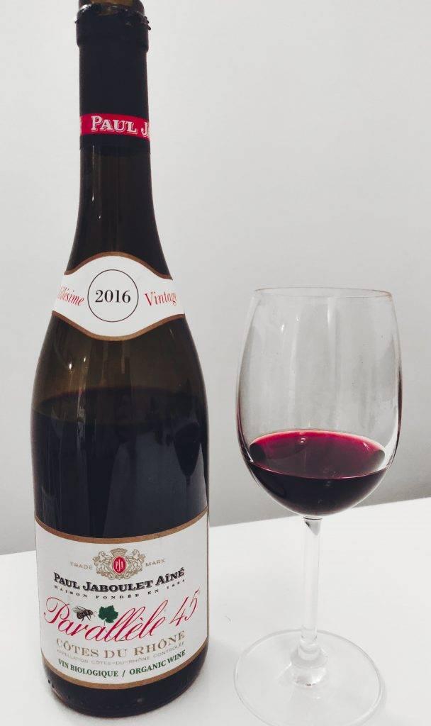 bouteille de parallèle 45 - vin côtes du rhône