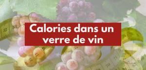 Calories dans un verre de vin