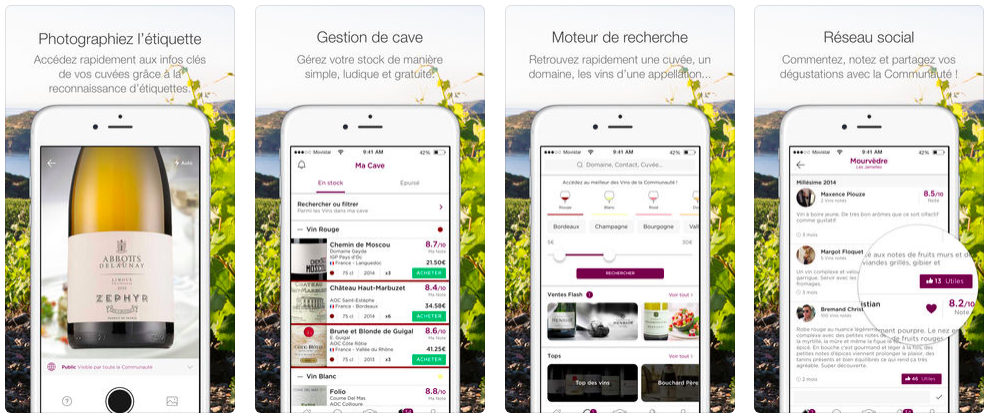 Application sur le vin - WineAdvisor