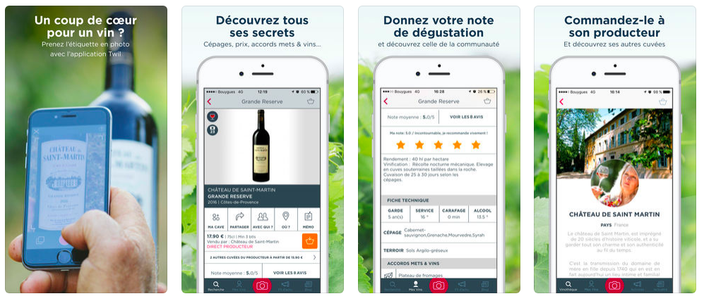 Application sur le vin : TWIL