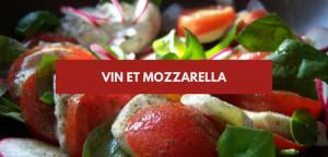 Vin et mozzarella