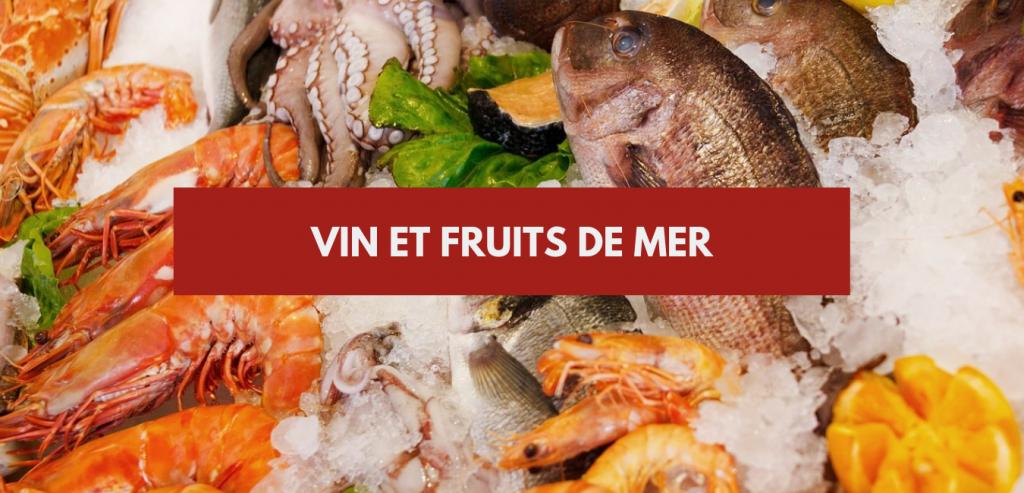 vin et fruits de mer