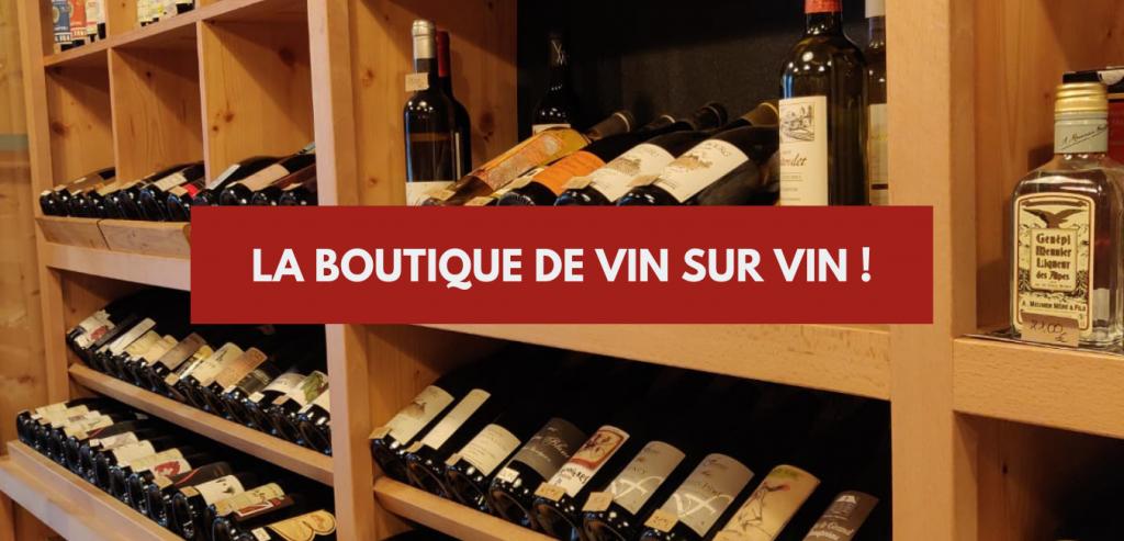Boutique vin sur vin