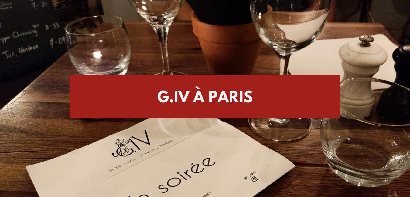 G IV à Paris : un bar à vin à découvrir !