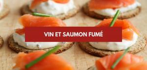 Vin et saumon fumé