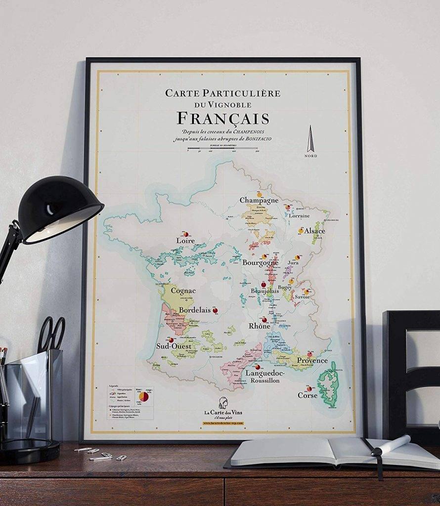 cadeau sur le vin - carte des vins