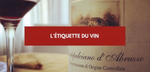 L'étiquette du vin