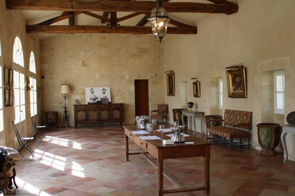 Salle de dégustation Château Grand Mayne